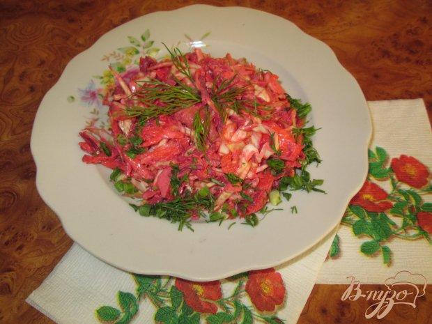 Салат из мяса и белокочанной капусты