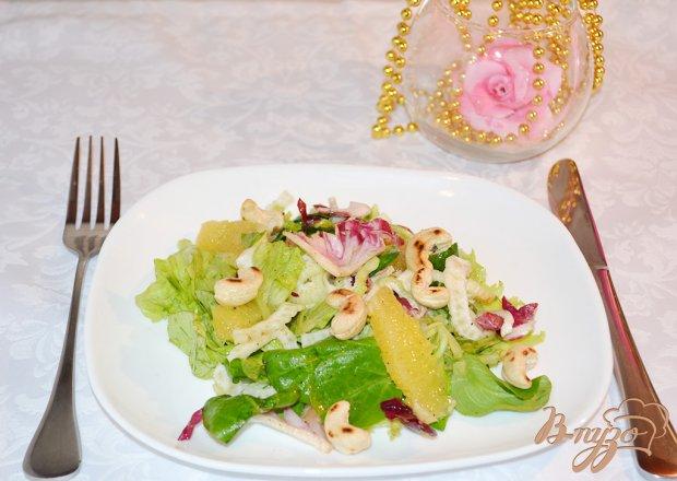 Нежный салат с апельсином и фенхелем