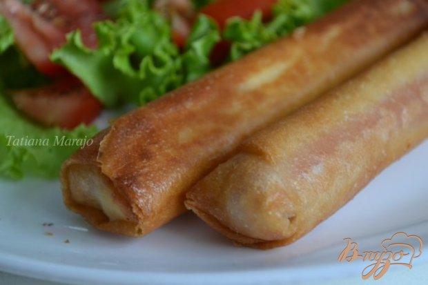 Сосиски с сыром в тесте брик
