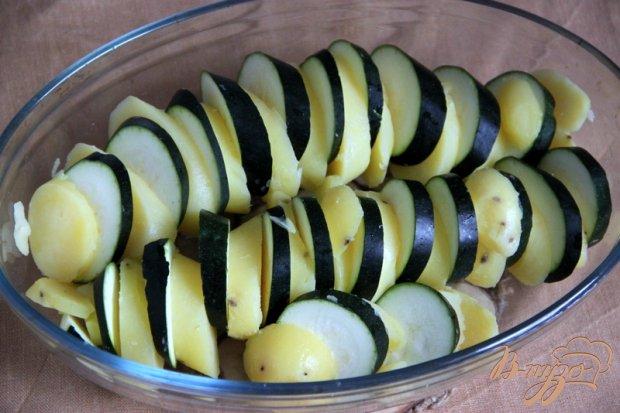 Пикантный гратин из картофеля и кабачка