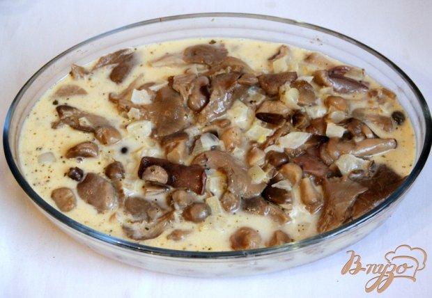 Зразы с сыром, запечённые  в сливочно-грибном соусе