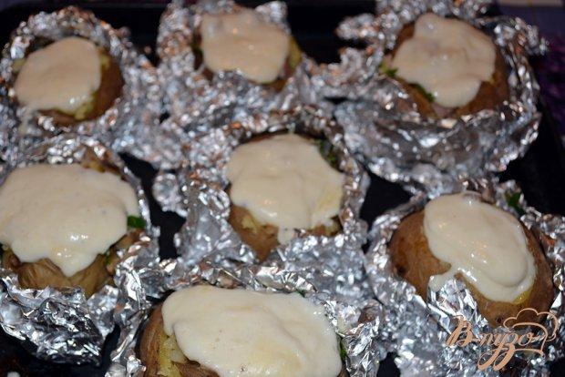 Картофель с начинкой запеченый с сыром