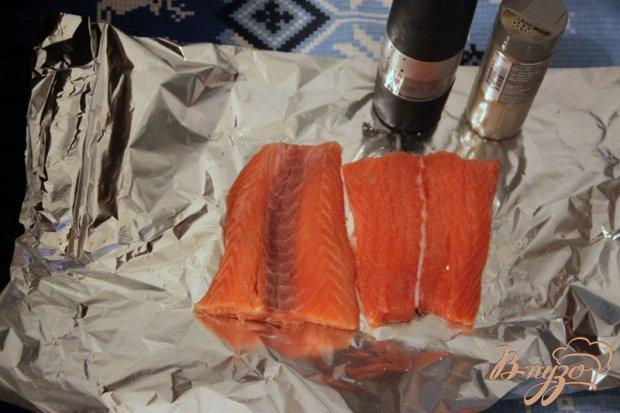 Галатин из красной рыбы и креветок