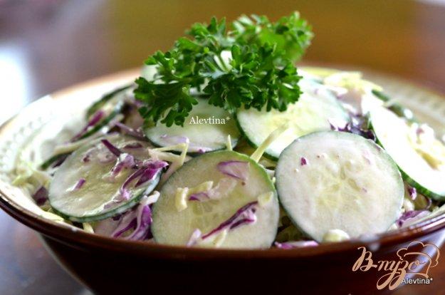 Рецепт Cалат с капустой и огурцом