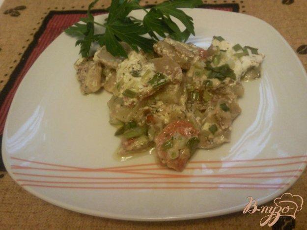 Рецепт Молодой картофель с овощами под сметаной