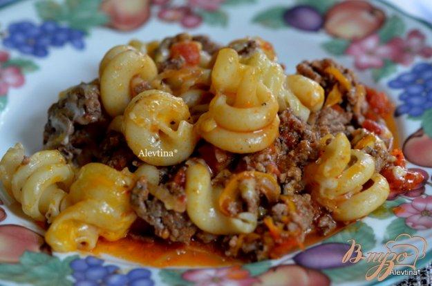 Рецепт Запеканка с говяжим фаршем и пастой