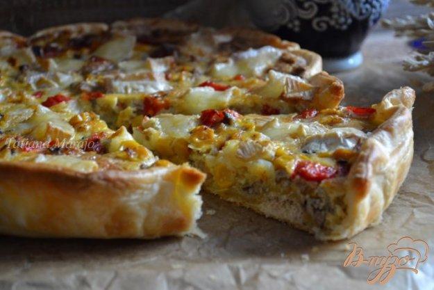 Рецепт Киш с сардинами и сыром бри