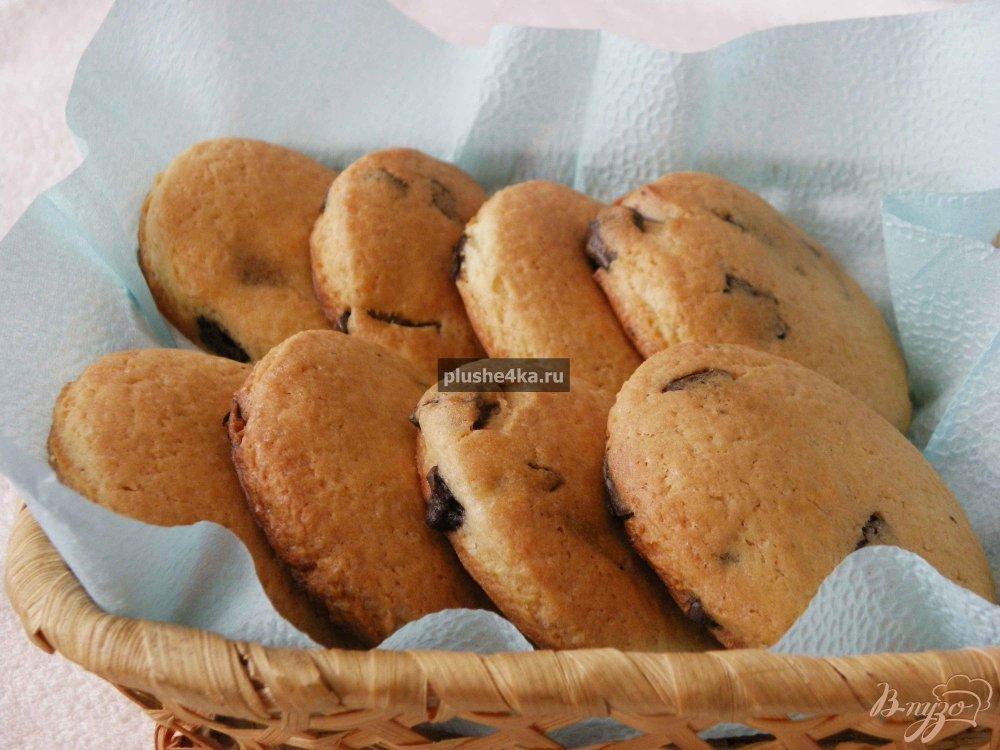 Фото приготовление рецепта: Печенье с шоколадом шаг №6