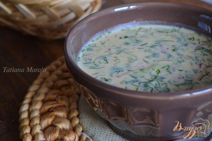 Фото приготовление рецепта: Овощная окрошка с цукини шаг №6