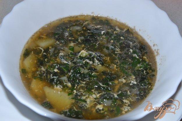 фото рецепта: Крапивный суп с яйцом