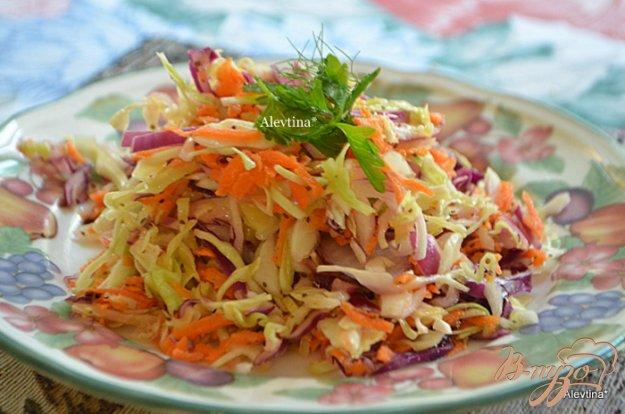 фото рецепта: Цветной капустный салат с домашней кисло-сладкой заправкой