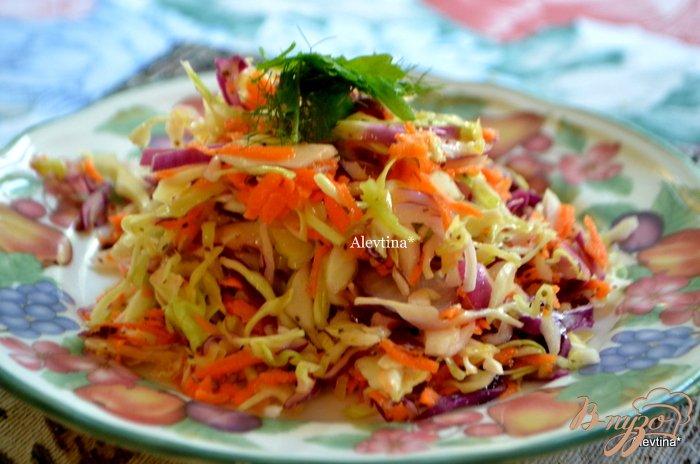 Фото приготовление рецепта: Цветной капустный салат с домашней кисло-сладкой заправкой шаг №3
