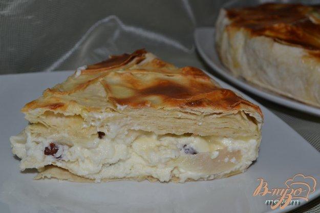 Рецепт Пирог из лаваша с творожной массой и грушами