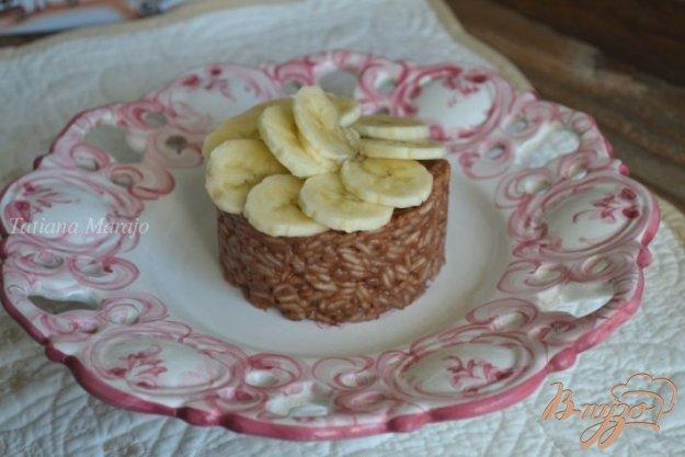 Рецепт Рисовая каша с шоколадом и бананами