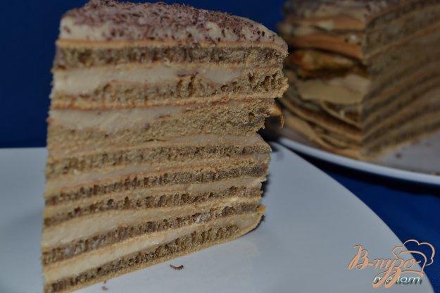 Рецепт Кофейный торт с заварным кремом (на сковороде)