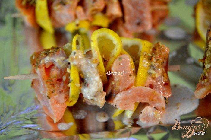 Фото приготовление рецепта: Кебаб с семгой шаг №4