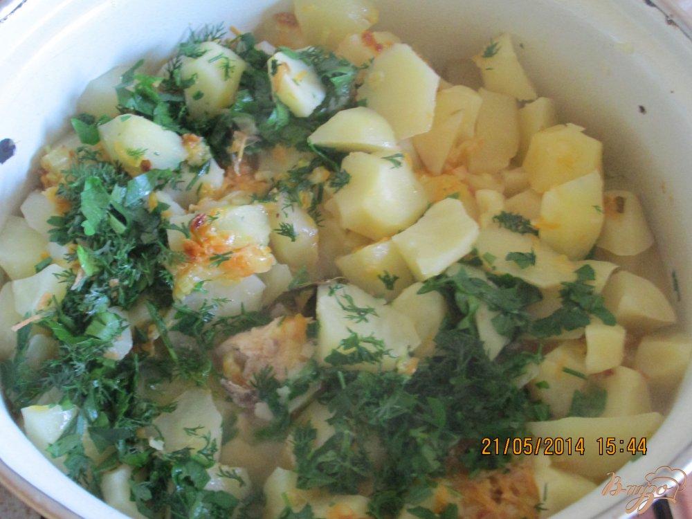 Фото приготовление рецепта: Картошка с куриным мясом шаг №4