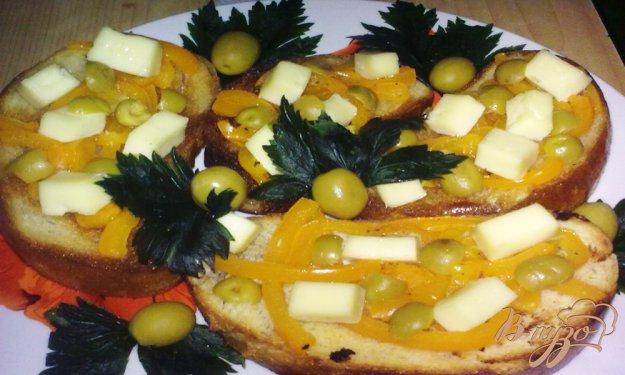 Рецепт Брускетта с сыром
