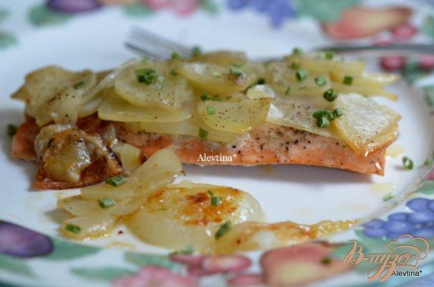 Рецепт Семга с картофелем