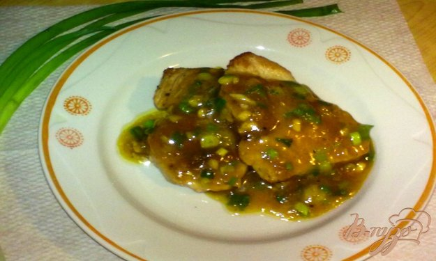 Рецепт Бифштекс с зеленым луком