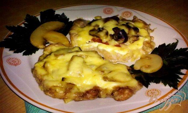 фото рецепта: Мясо по-купечески(с грибами)