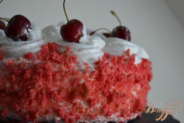 Рецепт Бисквитный торт с кремом из маршмеллоу