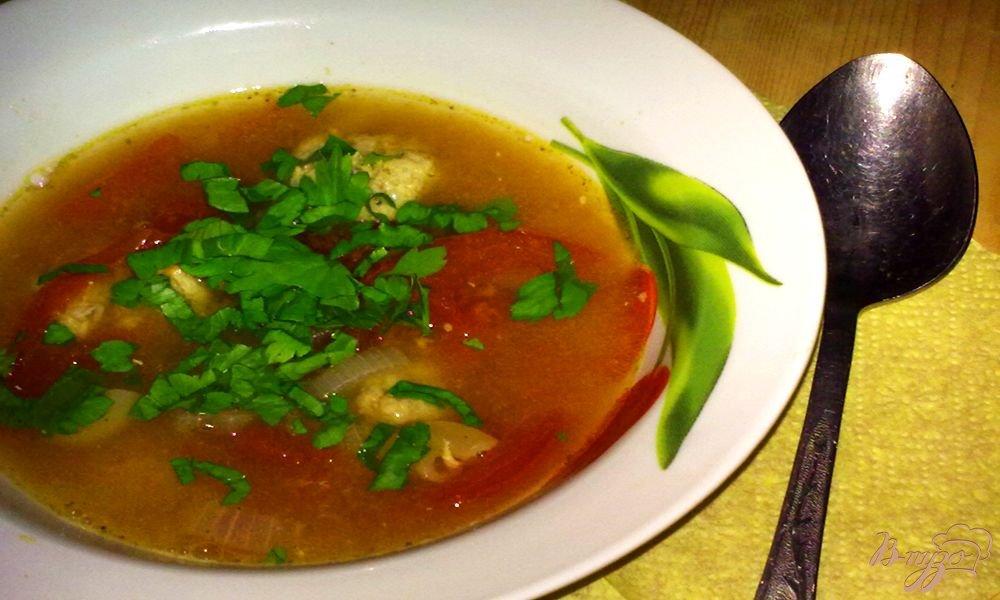 Фото приготовление рецепта: Суп с фрикадельками по-голандски шаг №7