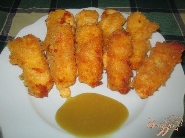 Рецепт Жареный сыр с медово-горчичным соусом