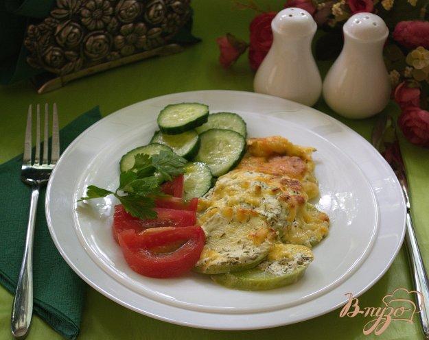 Рецепт Молодые кабачки со сметаной, чесноком и сыром