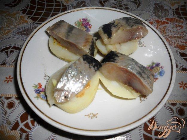 Рецепт Простая закуска из сельди и картофеля