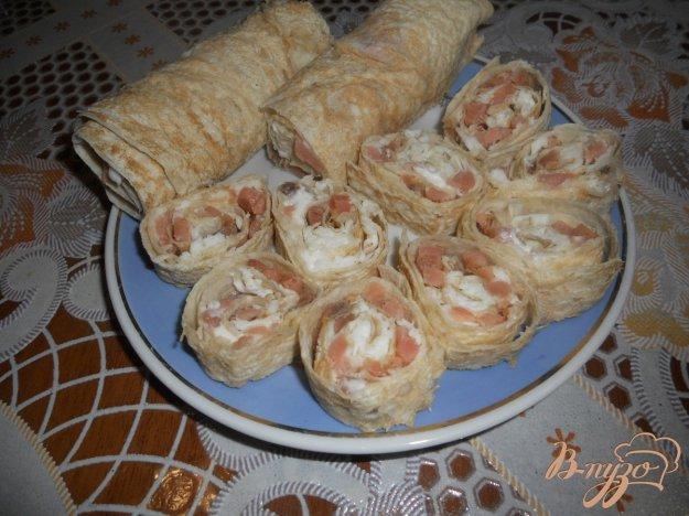 Рецепт Рулет из лаваша с горбушей и сыром