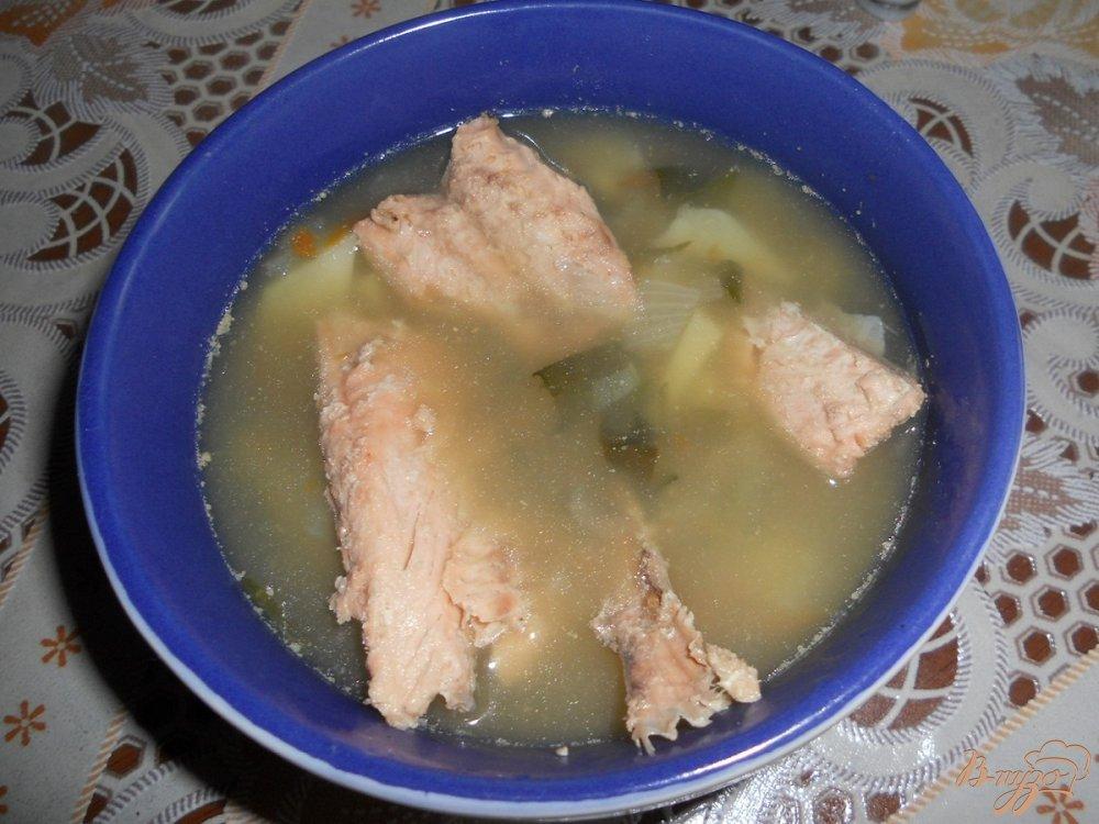 Фото приготовление рецепта: Супчик из горбуши шаг №6