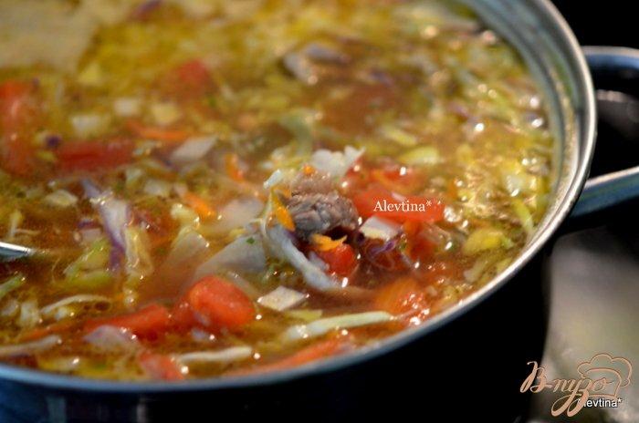 Фото приготовление рецепта: Щи из свежей капусты шаг №5