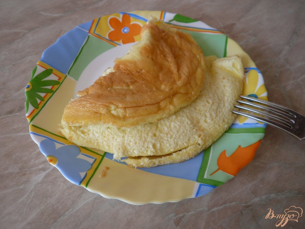 Фото приготовление рецепта: Омлет на майонезе шаг №6