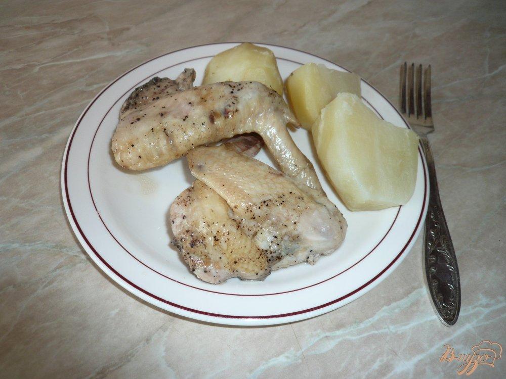 Фото приготовление рецепта: Крылышки в собственном соку шаг №3