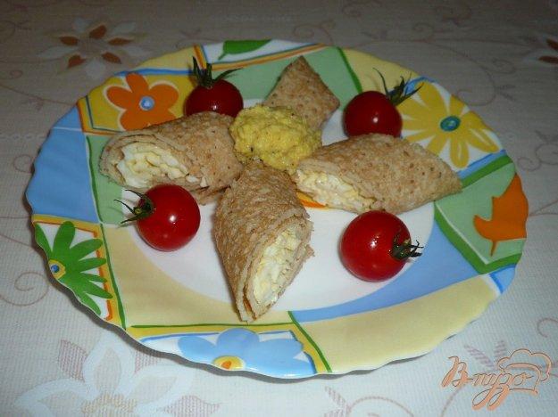 Рецепт Блинные рулетики закусочные