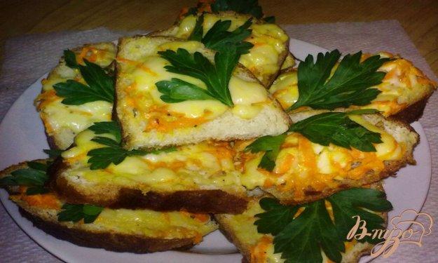 Рецепт Горячие бутерброды с морковью и плавленным сыром