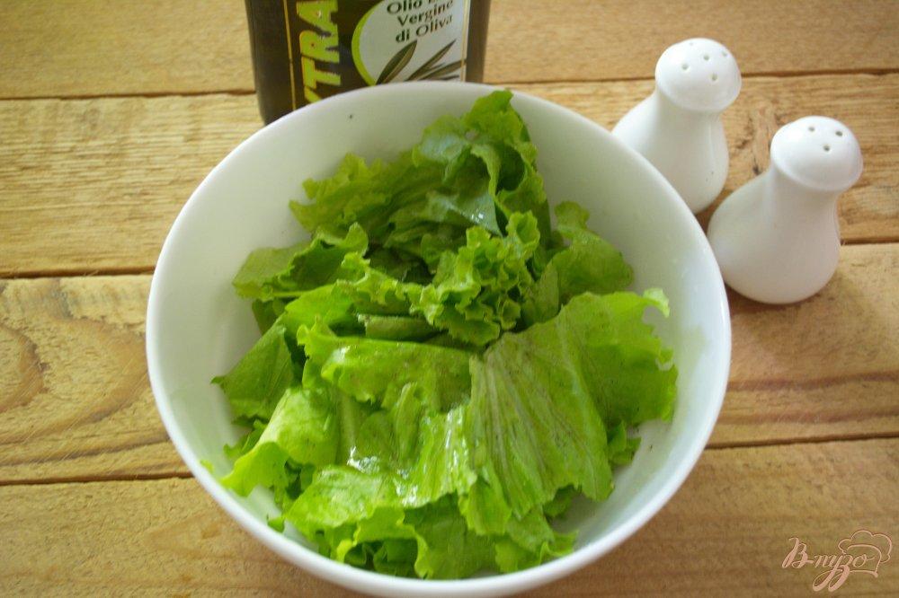 Фото приготовление рецепта: Сочный салат с голубым сыром и курицей шаг №1