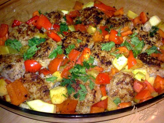 Рецепт Фрикадельки с овощами
