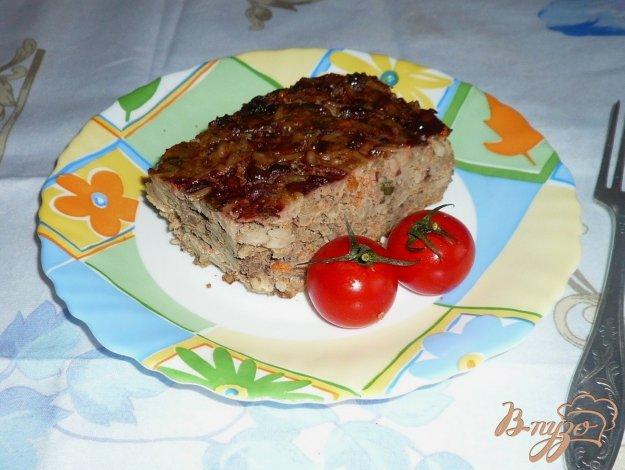 фото рецепта: Запеканка из печени с рисом