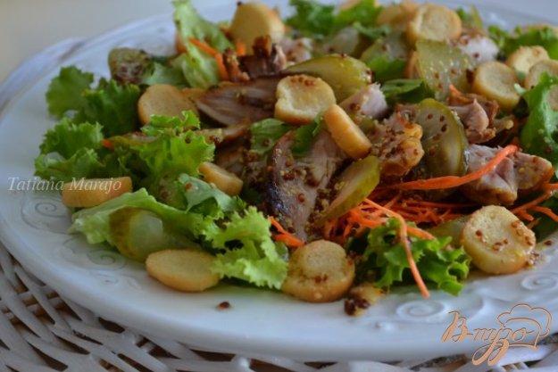 Рецепт Салат с куриным мясом гриль
