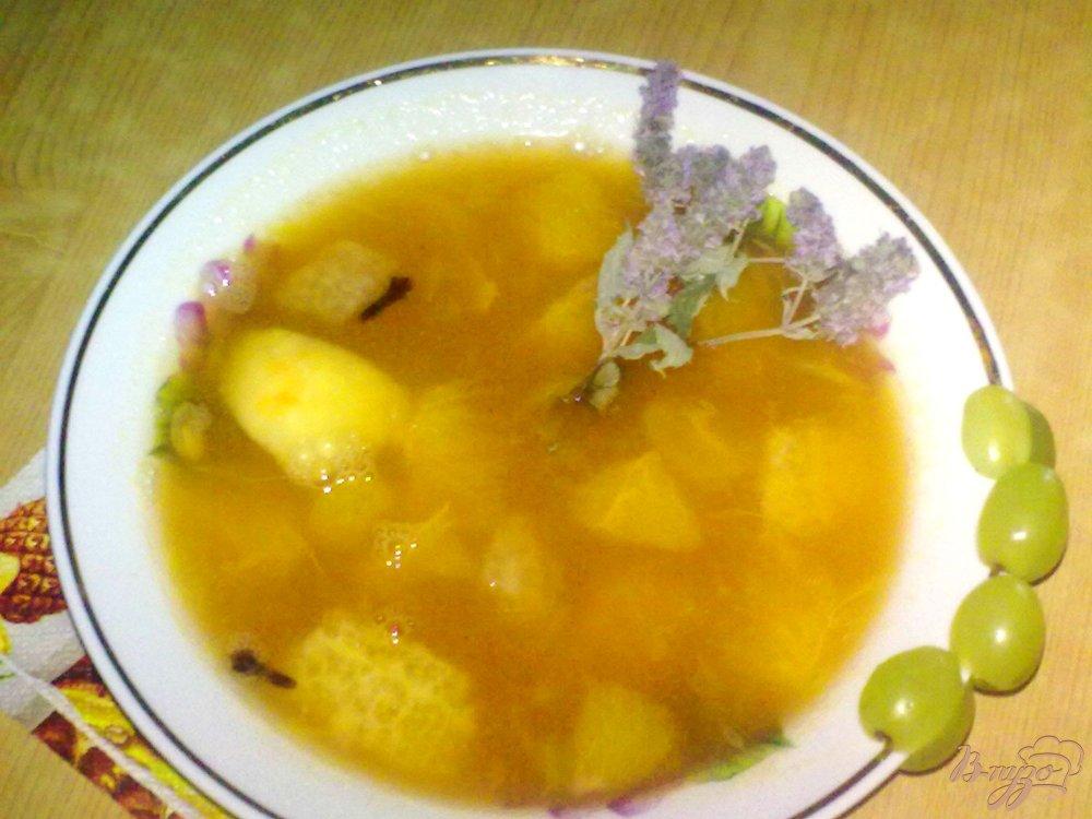 Фото приготовление рецепта: Суп из цитрусовых шаг №5