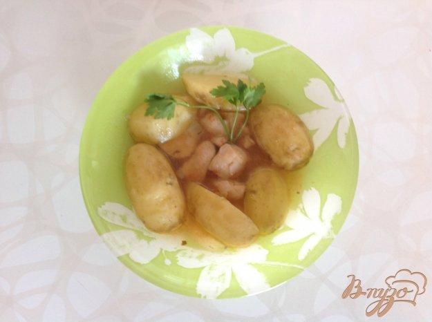 Рецепт Тушенная картошка с курицей