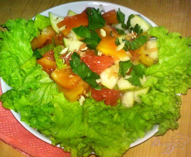 Рецепт Салат с грушей и грейпфрутом