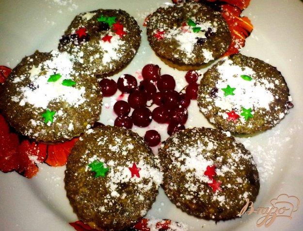 Рецепт Творожно-шоколадные маффины с красной смородиной