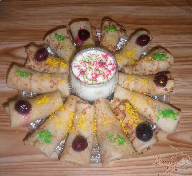 Рецепт Блинчики с творожной начинкой и с изюмом