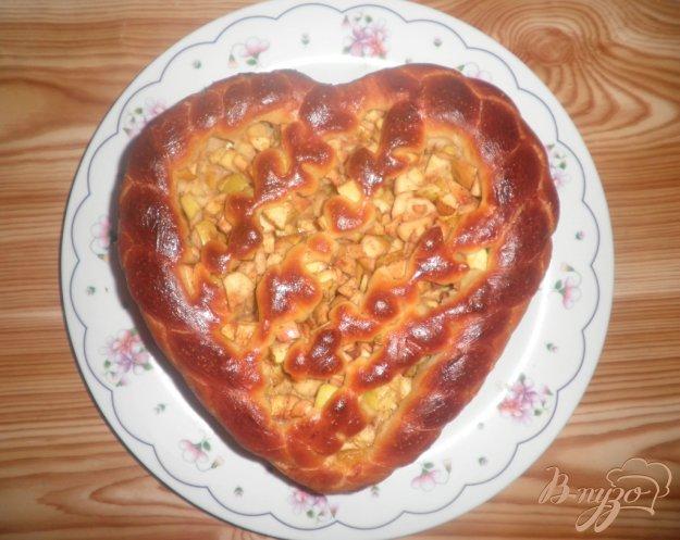 Рецепт Пирог с яблоками Сердце