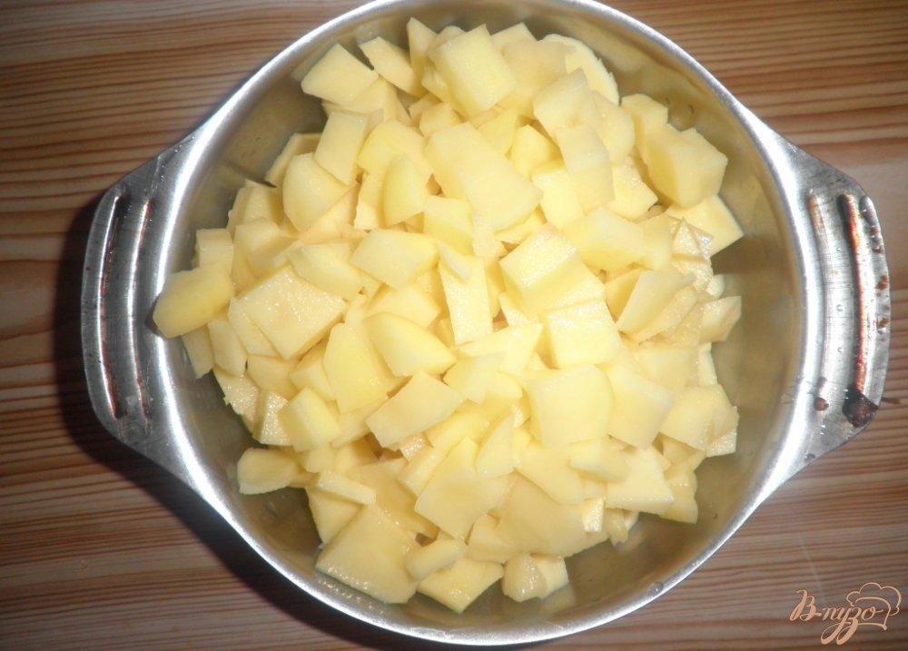 Фото приготовление рецепта: Постный борщ с фасолью шаг №2