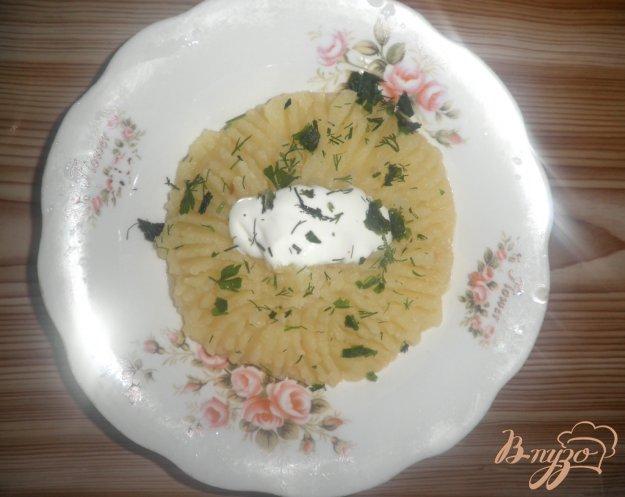 фото рецепта: Картофельное пюре со сметаной и зеленью