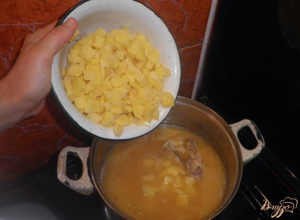 Фото приготовление рецепта: Гороховый суп шаг №5